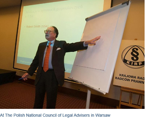 At the Polish National Council of Legal Advisers in Warsaw